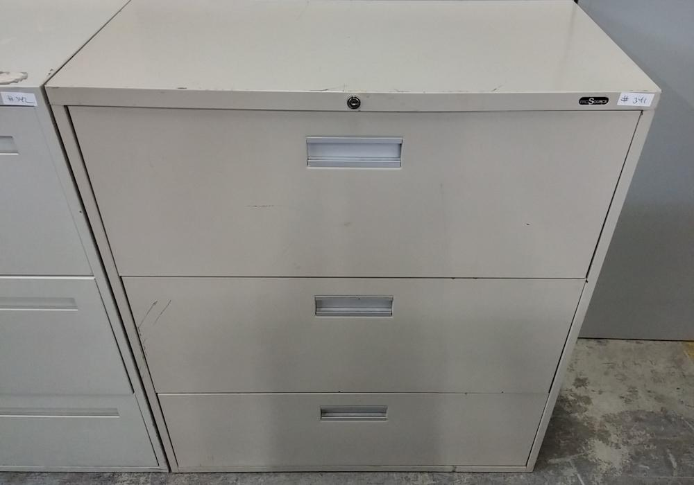 Pro Source 3 Drawer Metal Lateral Filing Cabinet