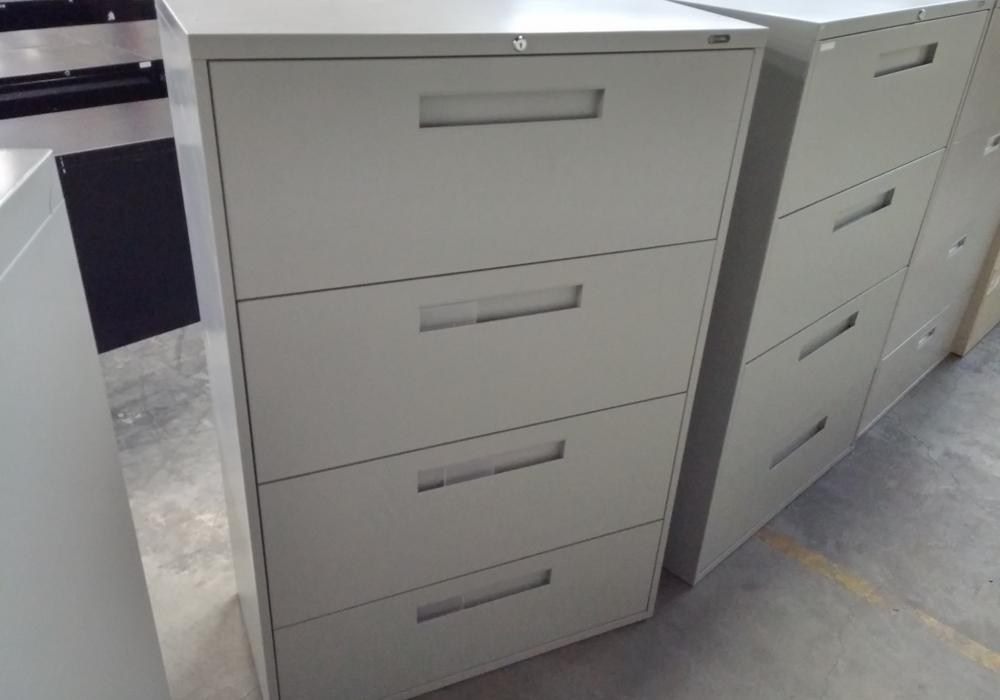 Global 4 Drawer Metal Lateral Filing, Global 4 Drawer Lateral File Cabinet