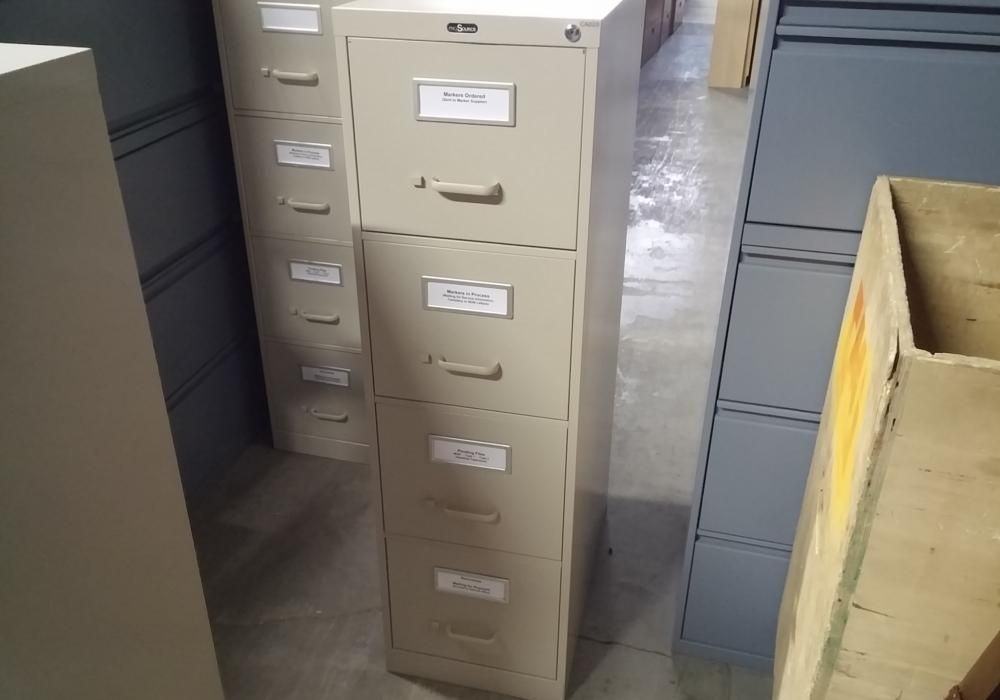 Attractive Pro Source 4 Drawer File Cabinet
