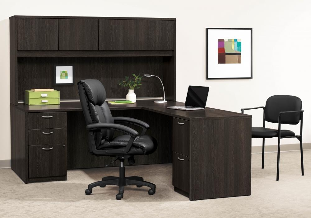 basyx by hon l shaped desks with hutch toronto new used office