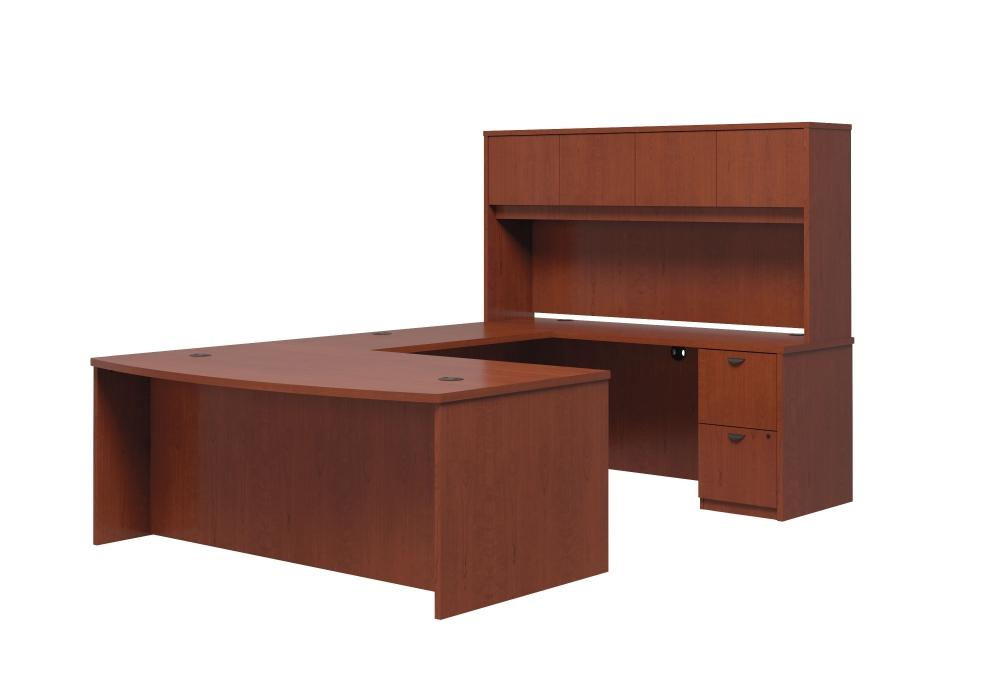 Miraculous Basyx U Shape Bow Front Desk With Hutch Toronto New Used Download Free Architecture Designs Grimeyleaguecom