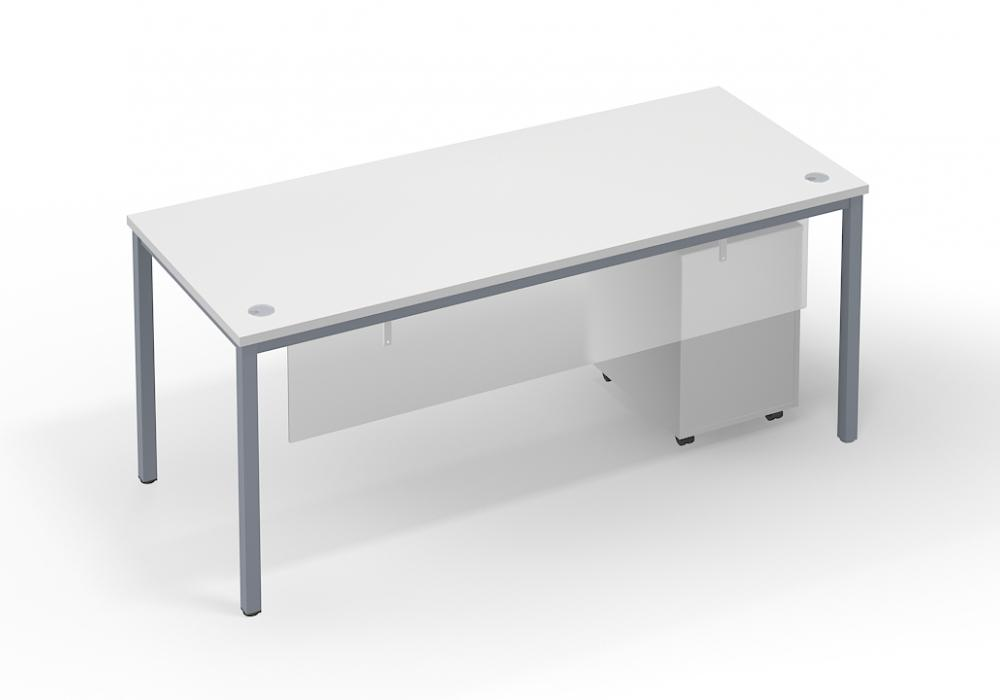 Modern 6ft Straight Desk With Acrylic Modesty Panel