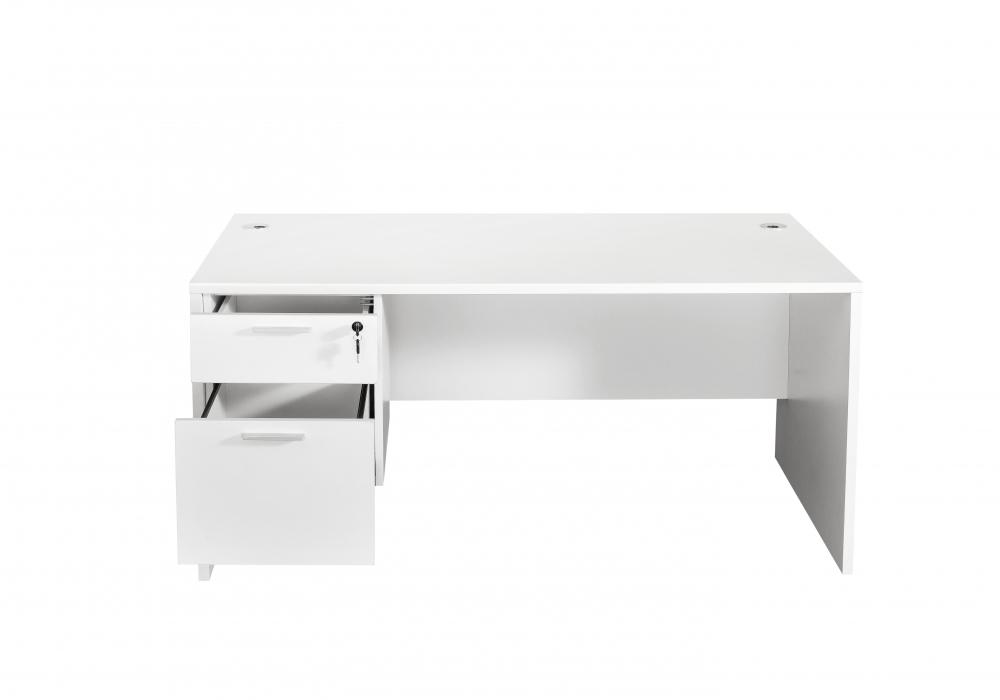 white and white furniture. Brilliant And Modern White 5ft Straight Desk  Toronto New U0026 Used Office Furniture  Officestock Throughout And