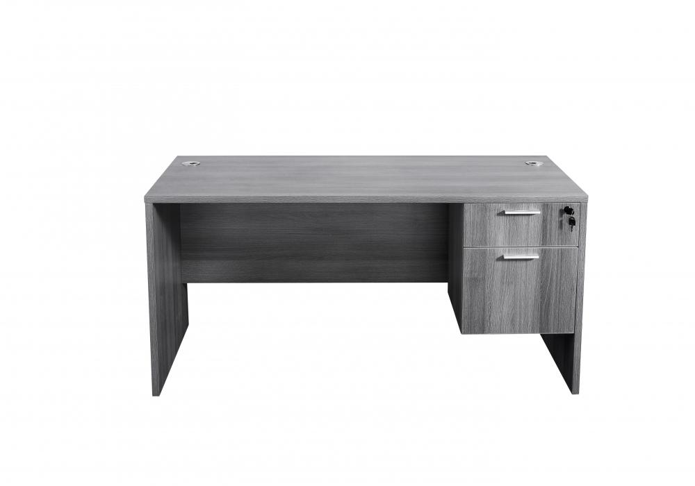 modern gray 5ft straight desk toronto new used office furniture rh officestock ca