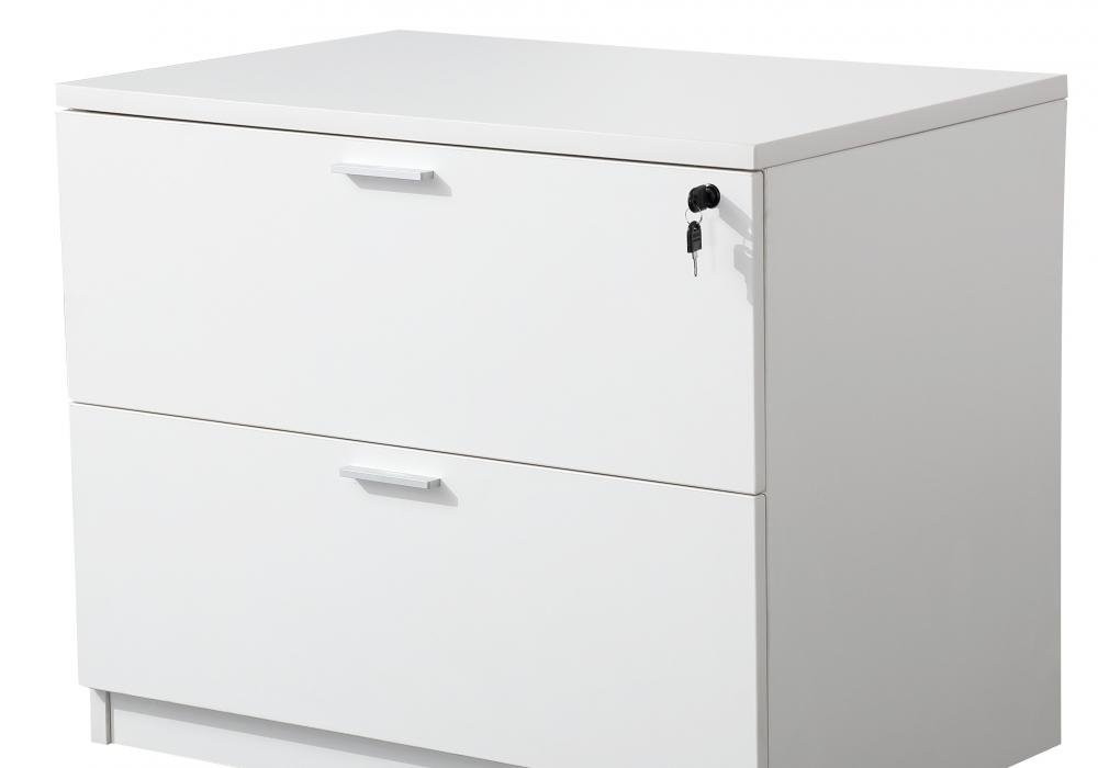 Classic White 2 Drawer Lateral File Cabinet