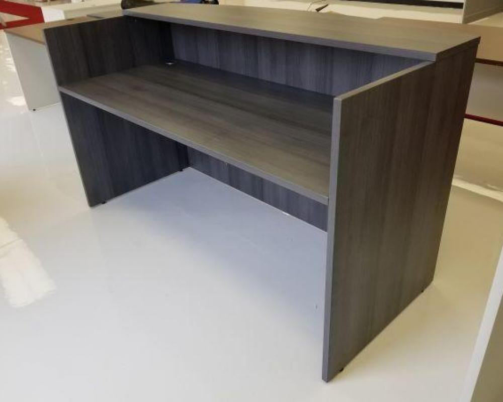 drawers sit stand desk reception hutch black corner brown ikea professional micke office with