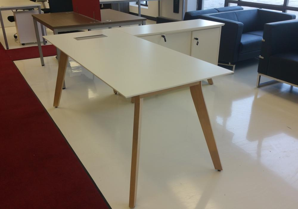 modern l shape desk with side cabinet toronto new used office