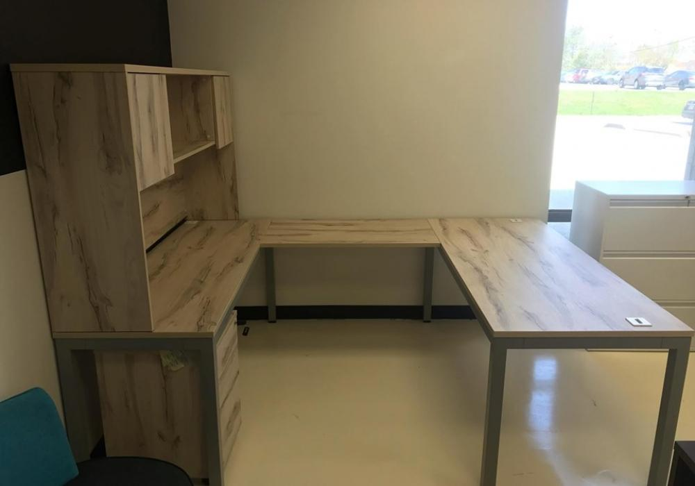 Groovy U Shaped Desk With Hutch Toronto New Used Office Download Free Architecture Designs Grimeyleaguecom