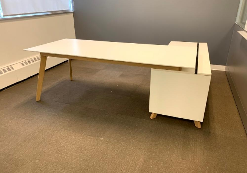 Modern Executive Desk With Side Cabinet, Modern Executive Office Furniture Toronto